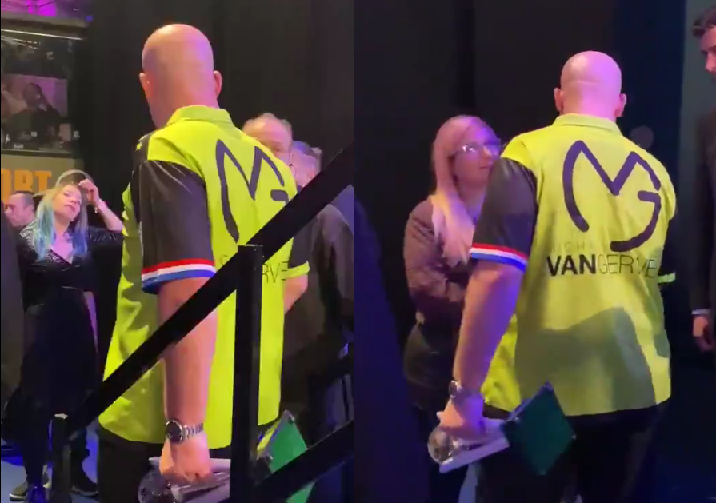 VIDEO: Backstage Footage Between Van Gerwen And Peter Wright's Wife