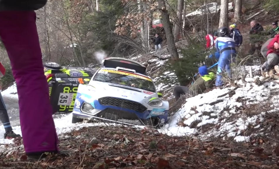 VIDEO: WRC Rally Car Almost Crashed Into Helping Crowd
