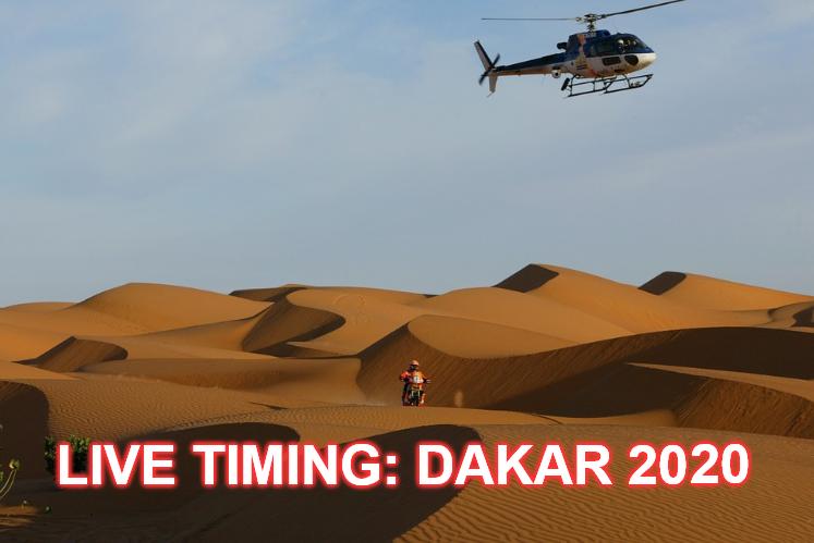 Live Timing: Dakar 2020