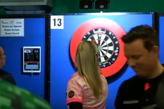 VIDEO: Fallon Sherrock Beats Paul Nicholson At PDC Q School