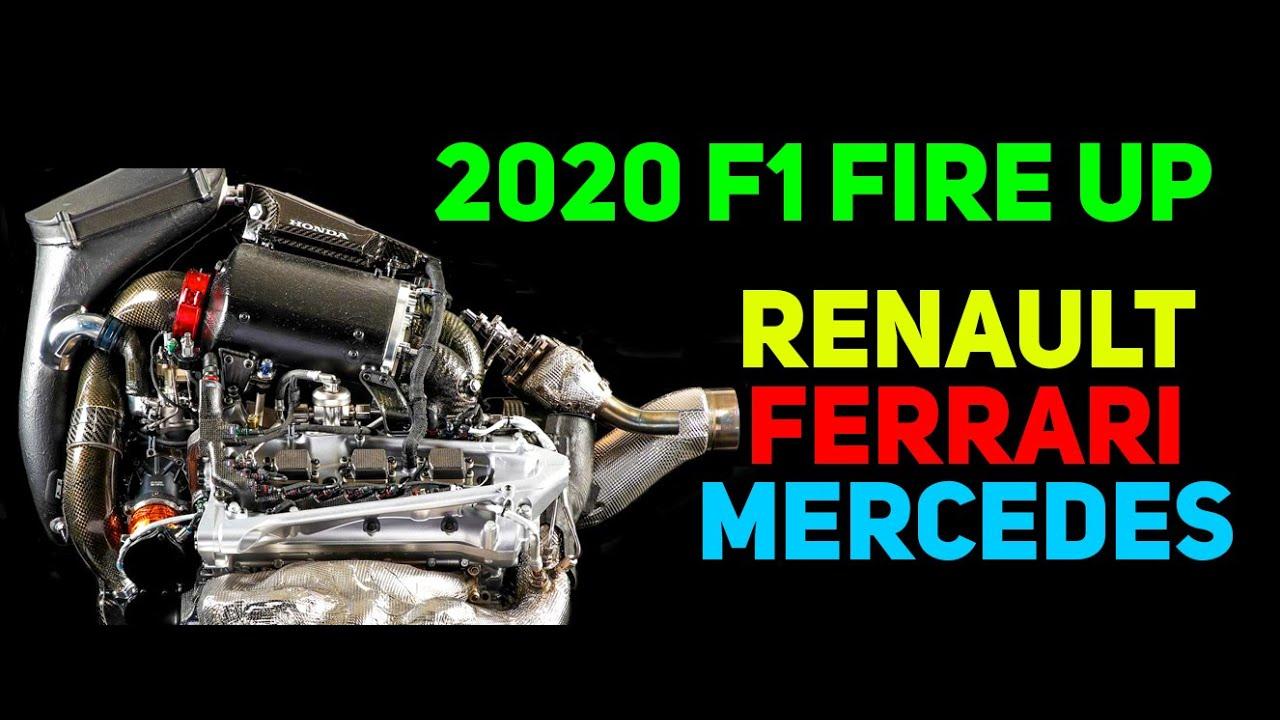 Ferrari, Mercedes And McLaren Started Their 2020 Engine 🔊