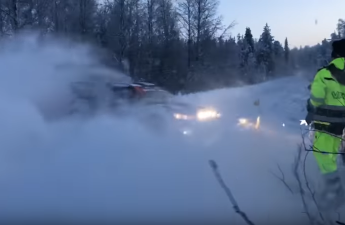 VIDEO: Valtteri Bottas Spins During Artic Lapland Rally 2020