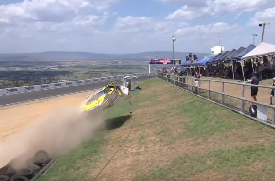 VIDEO: Dean Canto Crashed Over Fence During Bathurst 12 Hour Qualifying