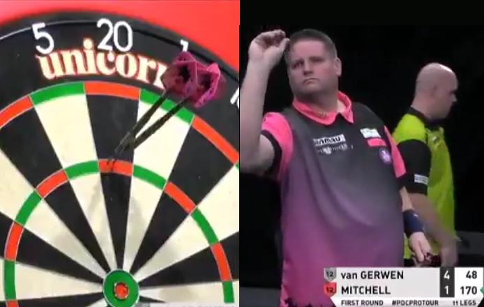 VIDEO: Scott Mitchell Hits 170 Checkout Against Michael van Gerwen