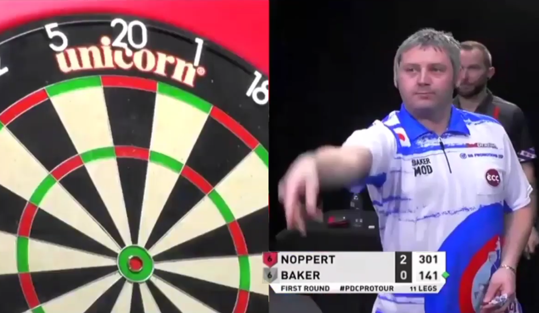 VIDEO: Scott Baker Hits First 9-Darter Caught On Camera In 2020