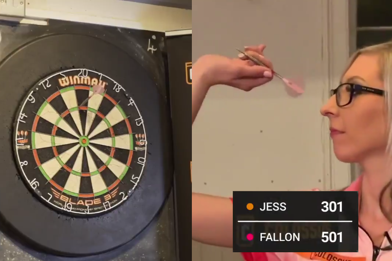When You Play Darts Against Fallon Sherrock With 200-Point Head Start