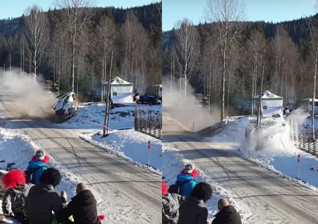 VIDEO: Dramatic Accident At Junior WRC Rally Sweden 2020