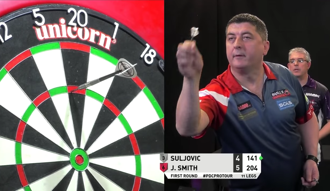 Mensur Suljovic Hits 9-Darter During Today's Players Championship 3