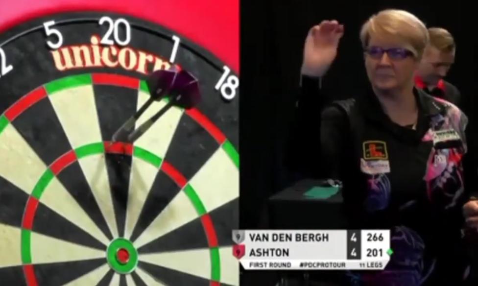 Lisa Ashton Beats Dimitri van den Bergh at Players Championship 3