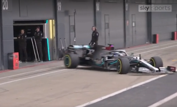 VIDEO: Valtteri Bottas Drifting His New Mercedes Out Of Pit Box
