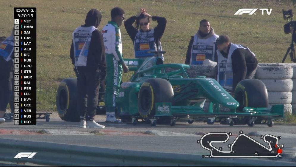 Mystery Solved: Strange Green 'Formula 1' Car Spotted In Barcelona