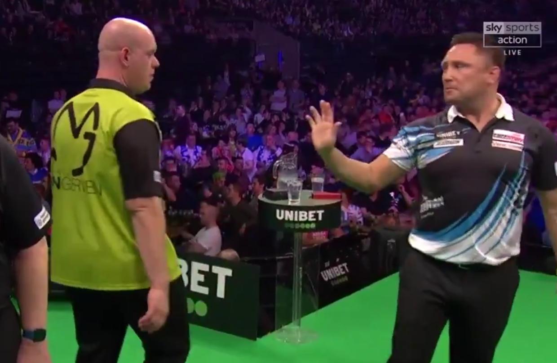 VIDEO: Incident Between Gerwyn Price And Michael van Gerwen Tonight