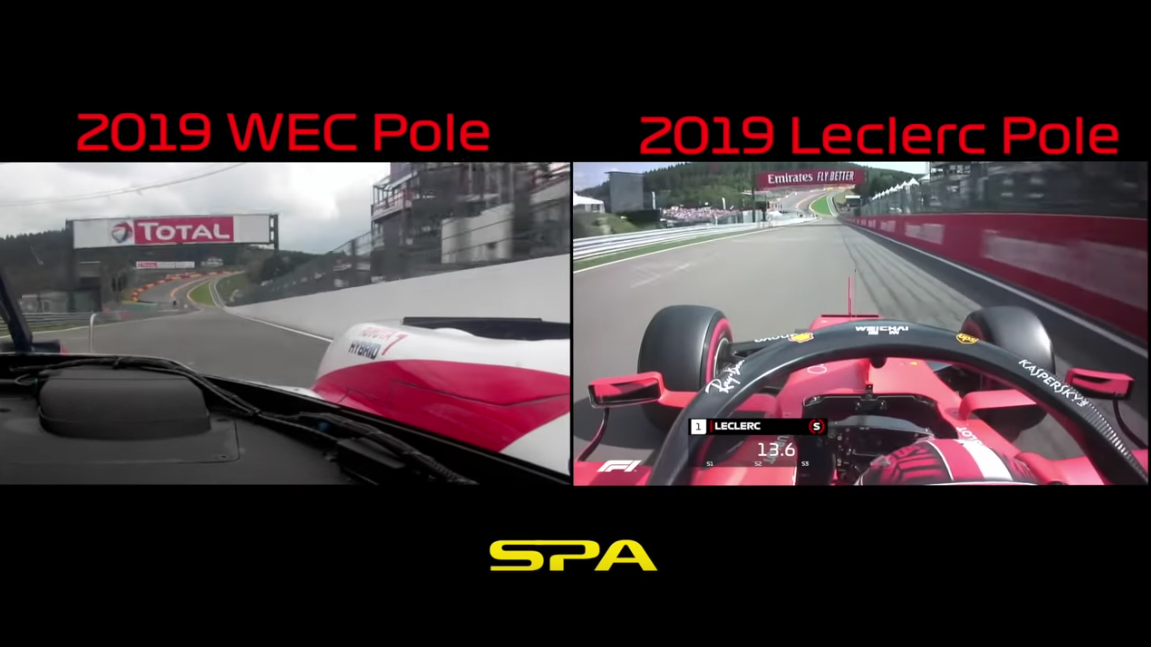 The Speed Difference Between F1 And WEC at Spa Francorchamps