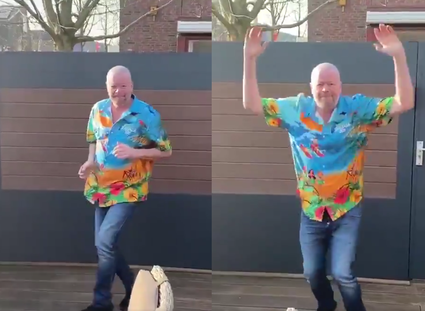VIDEO: Raymond van Barneveld Does Wayne Mardle's Walk On