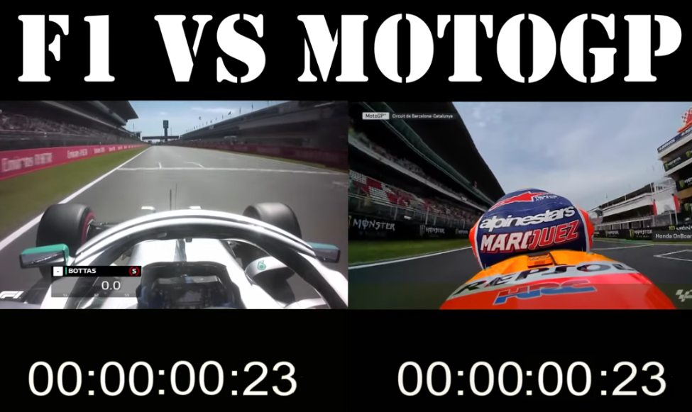 The Speed Difference Between F1 And Motogp At Barcelona Circuit Sportvideos Tv