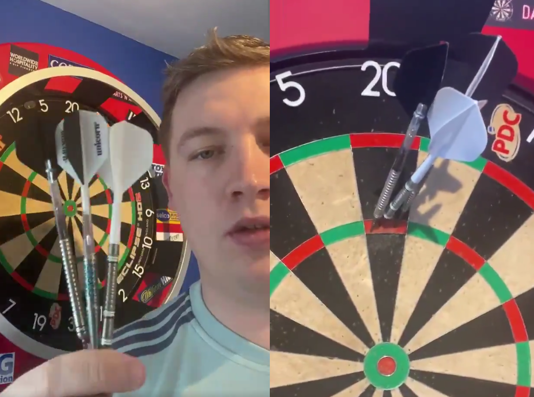 Chris Dobey Completes PDC's New 180 Challenge In His First Attempt
