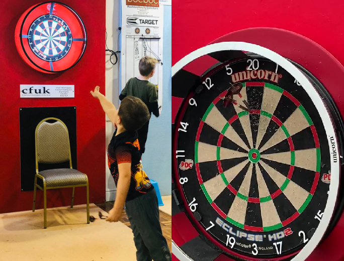 Can You Beat Michael Smith And His Son In This 30 Darts Challenge?