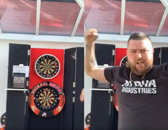 VIDEO: Michael Smith Hits 9-Darter During Charity Livestream