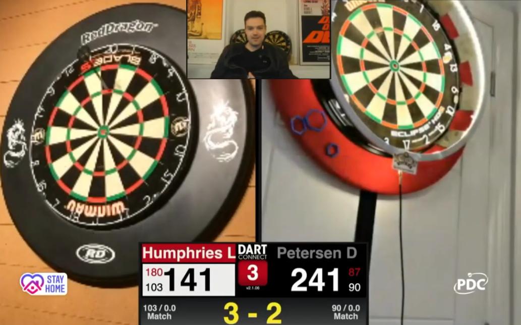 VIDEO: Devon Petersen & Luke Humpries Close To 9-Darter Last Night