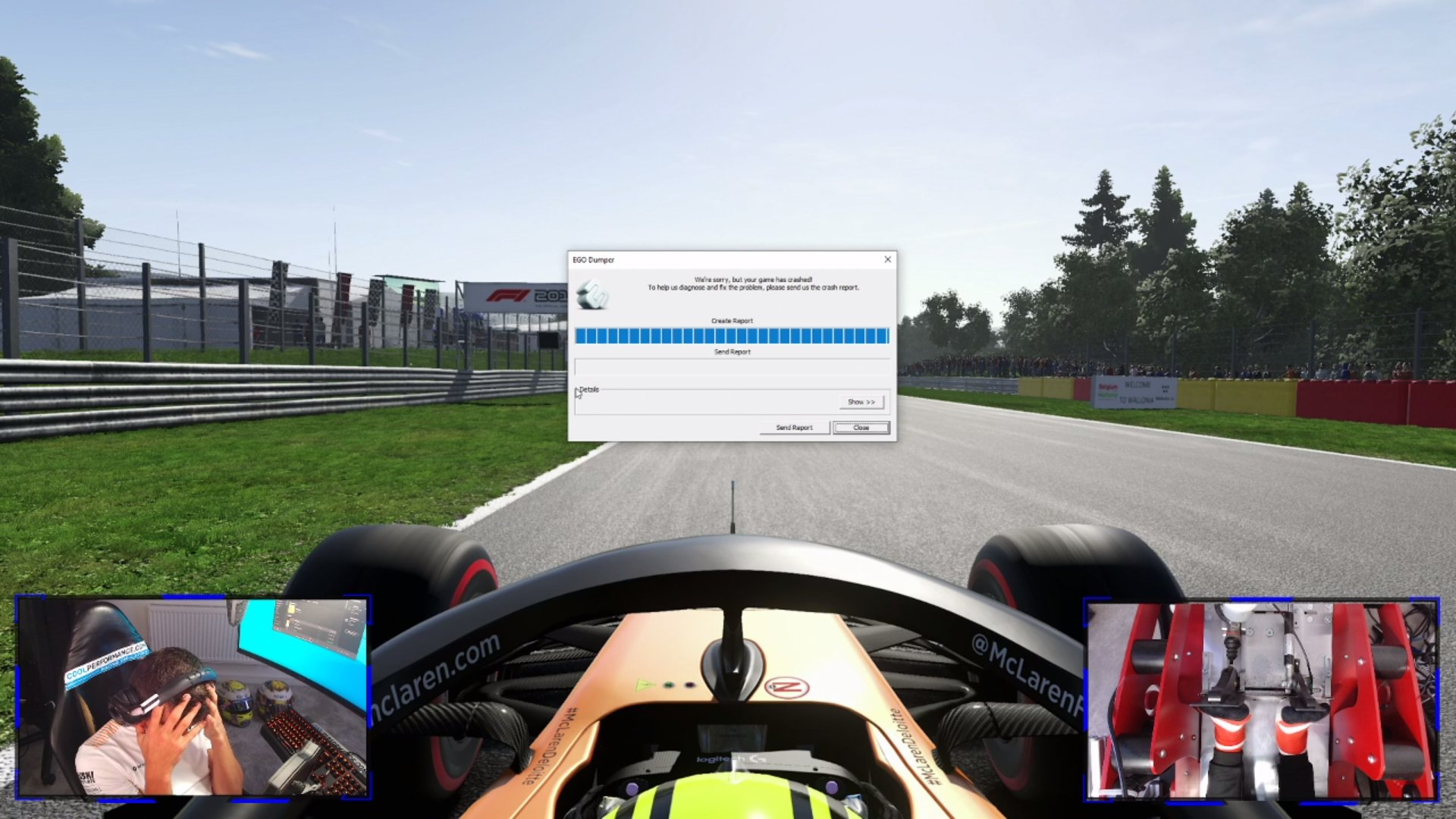 Lando Norris Was Leading In F1 2019 When His Game Quit AGAIN