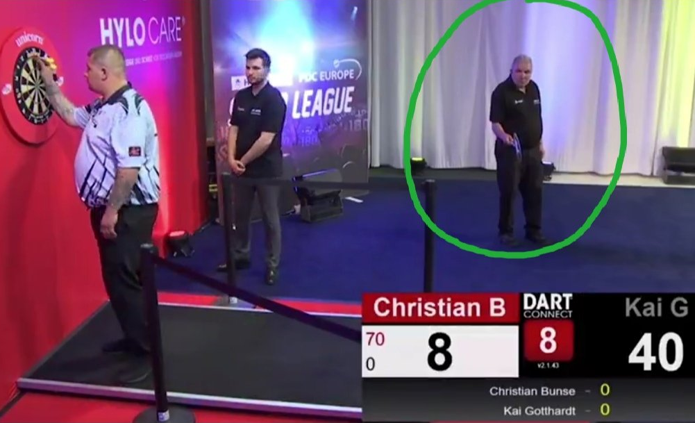 PDC Introducing Lollipop Man During Live Tournament On German TV