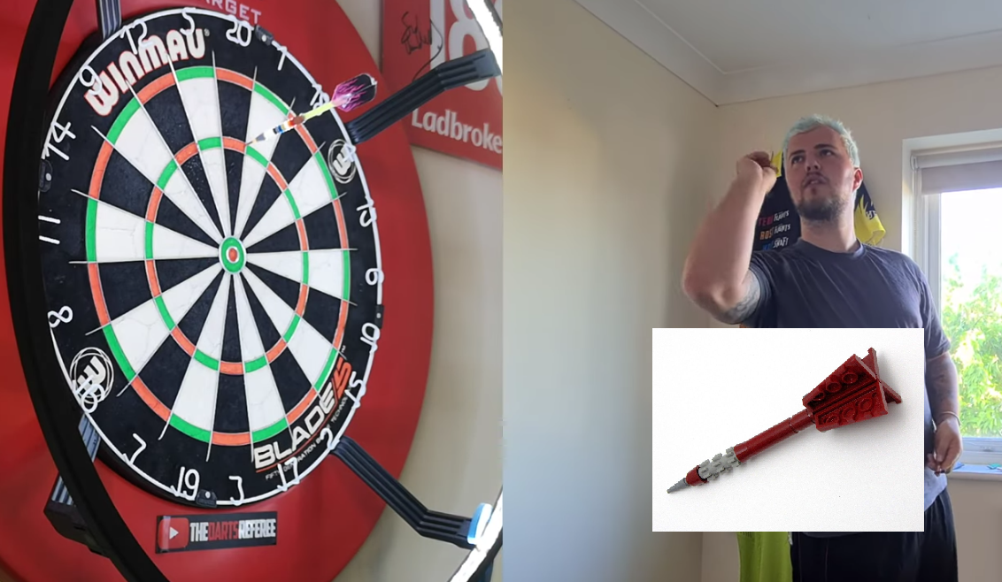 This Guy Is Throwing With These Self Made LEGO Darts