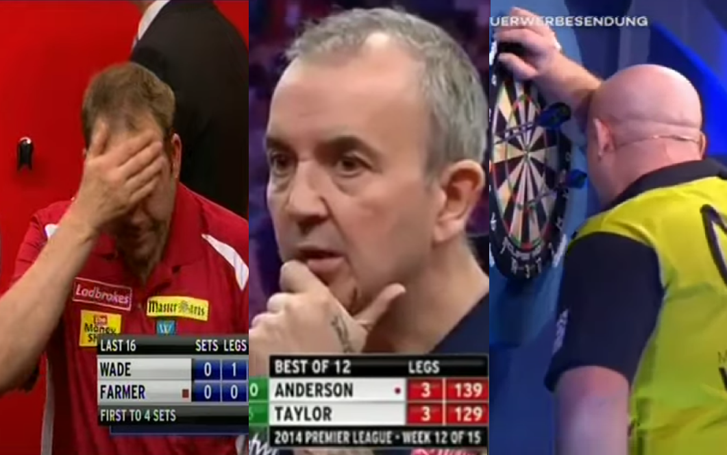 Top 10 Funniest Busts Scores In Darts On Stage