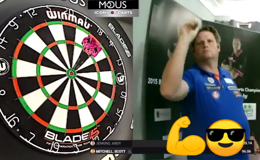 Scott Mitchell Wins Game In Style With Exhibition Bulls-Eye Checkout