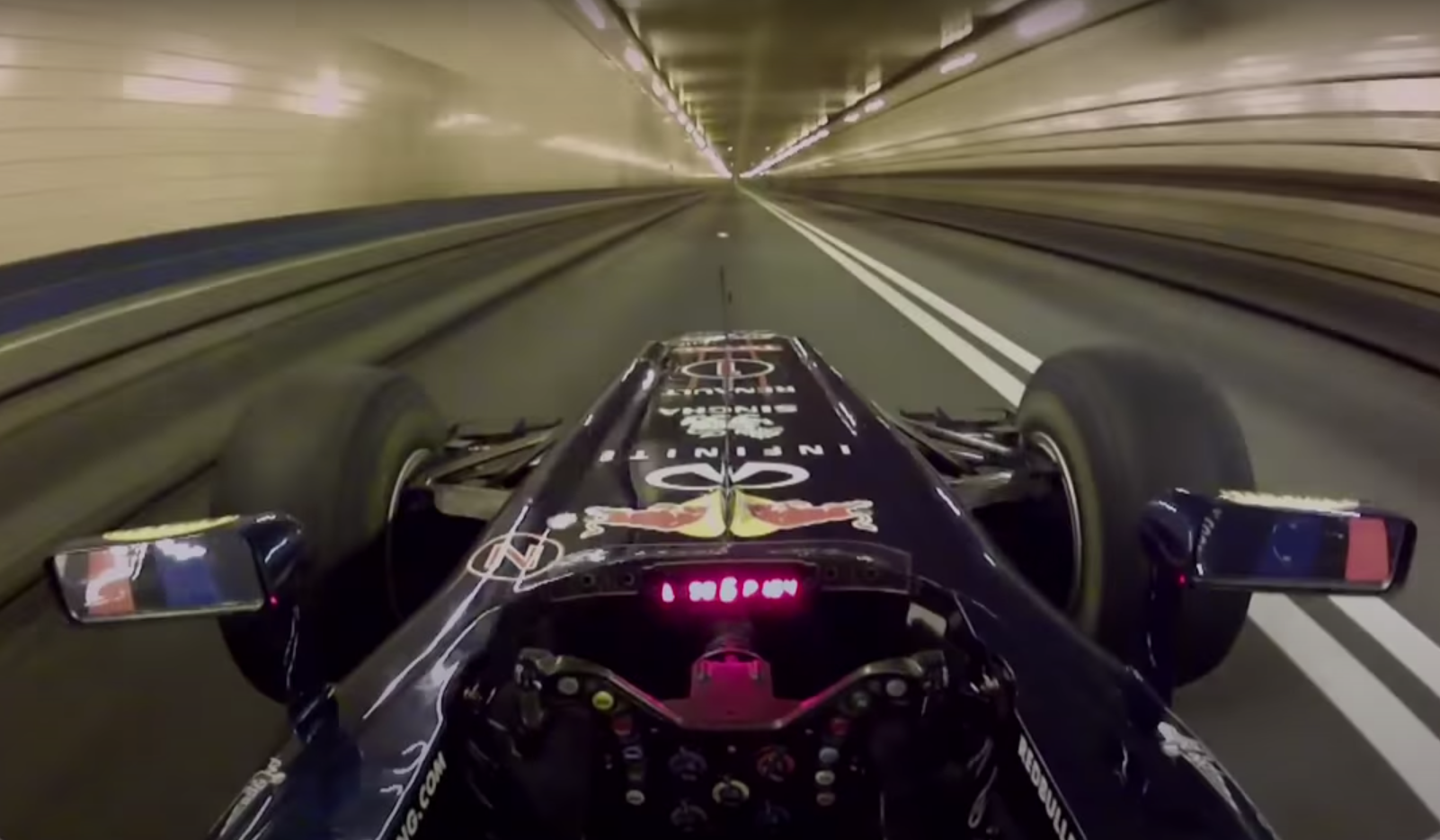 The Sound of A Formula 1 Car Going 300 KM/H Through A Tunnel