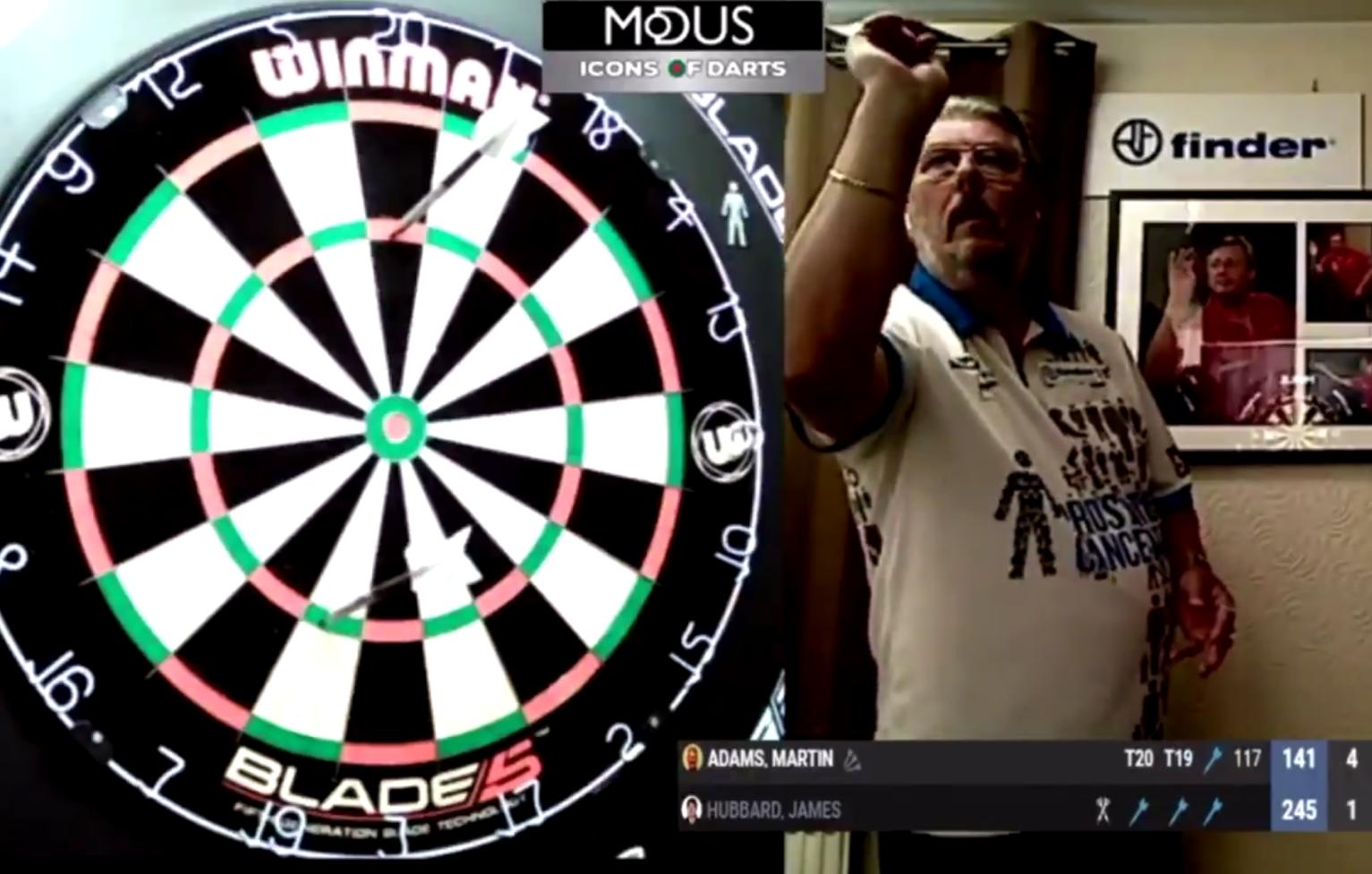 VIDEO: Martin Adams Hits 9-Darter During Icons of Darts 2020