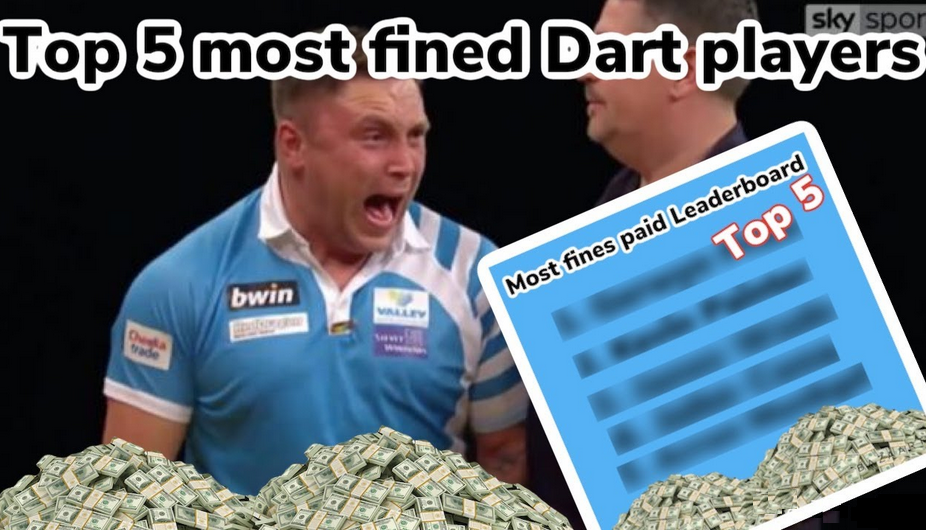 Top 5 Most Fined Dart Players In PDC