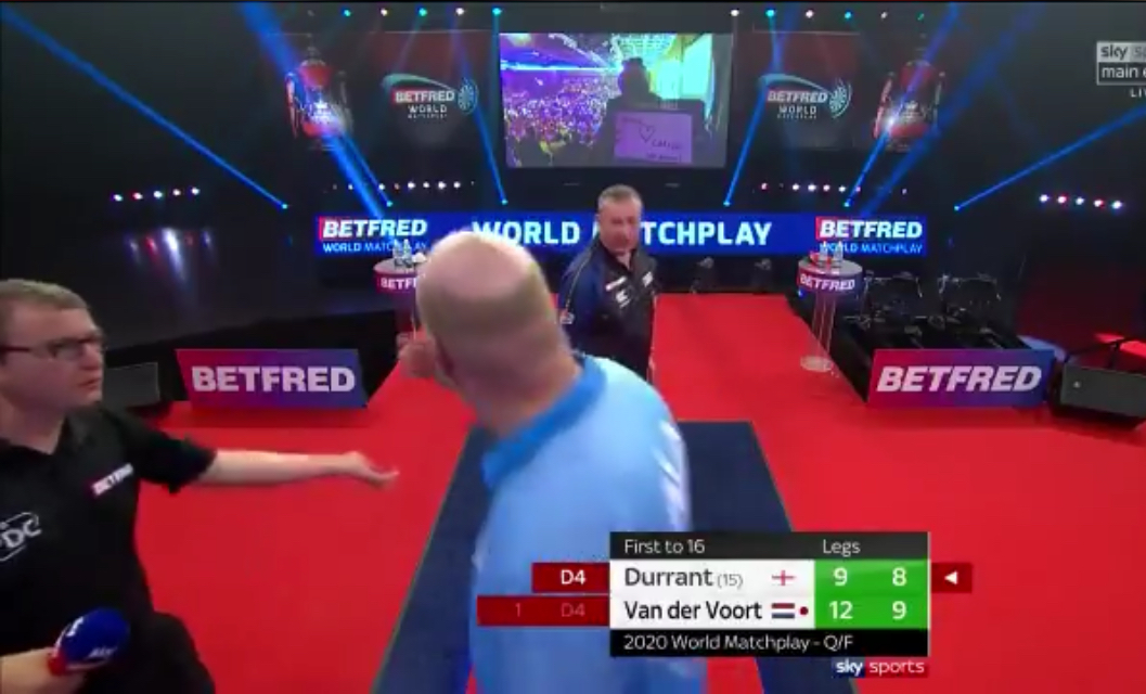 Incident With Underarm Throw Vincent van der Voort Being Illegal Dart Too