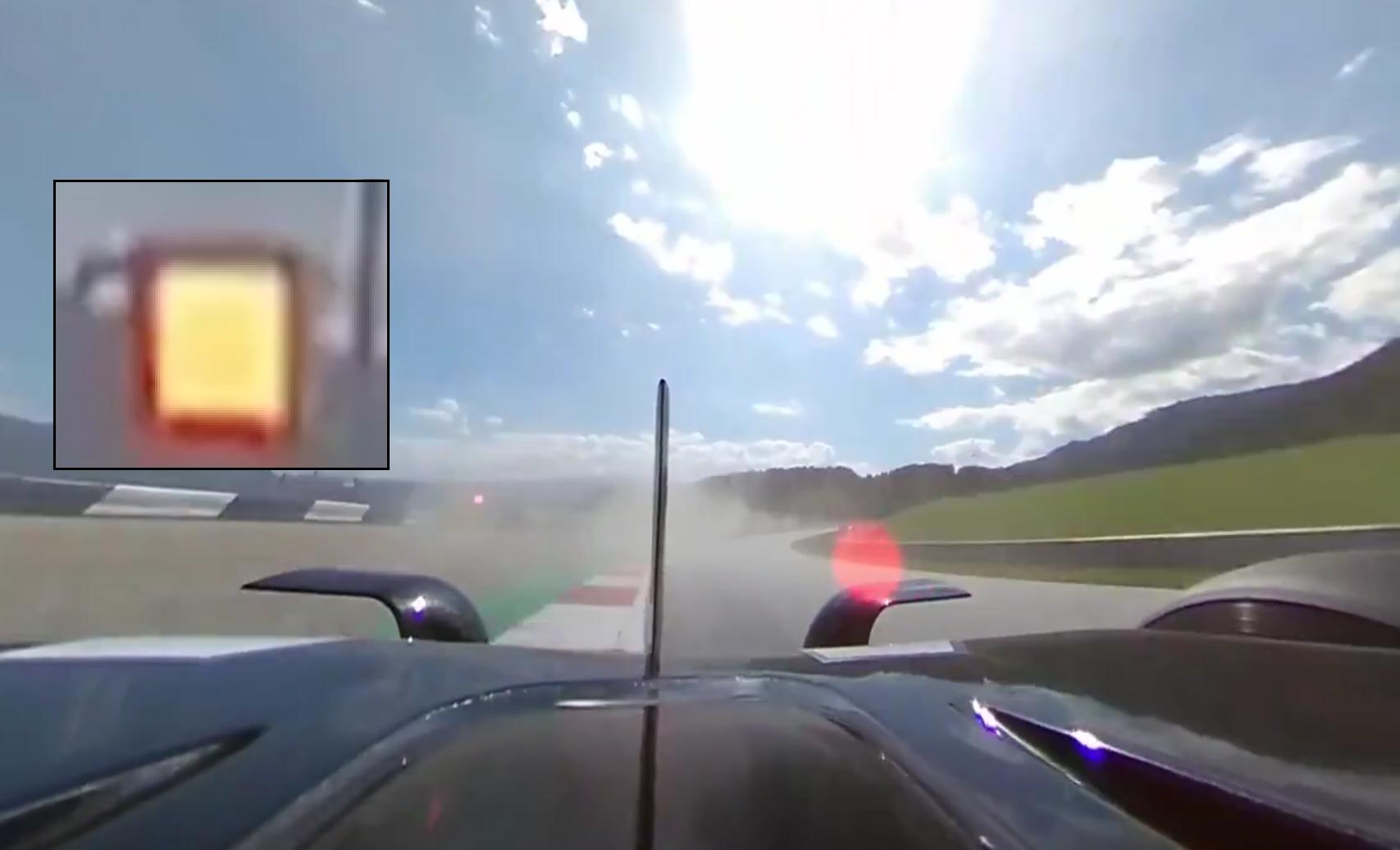 Onboard Footage from Lewis Hamilton's Car Passing Valtteri Bottas