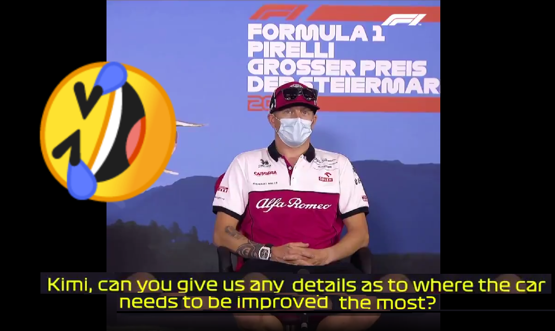 Kimi Raikkonen's Hilarious Answer During Today's Press Conference