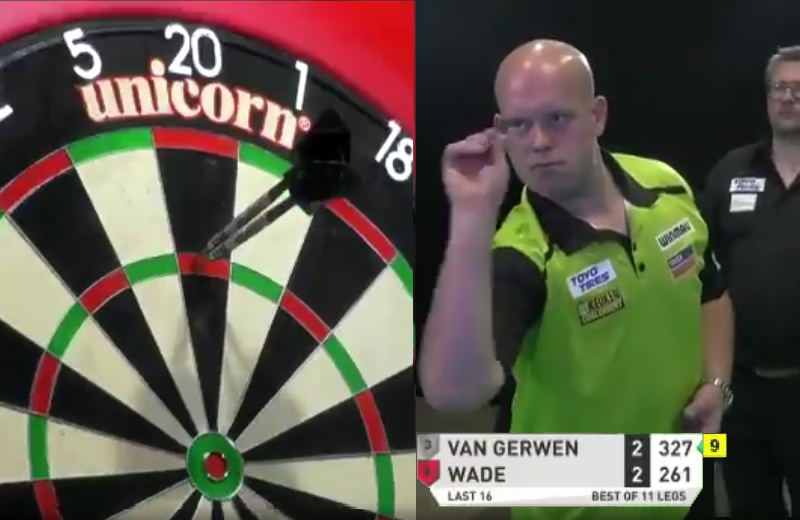VIDEO: Michael van Gerwen's 9-Darter Attempt Without 180 Today