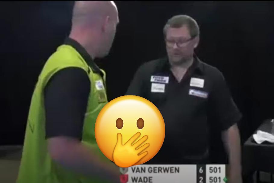 James Wade Accidentally Shakes Hands With Michael van Gerwen