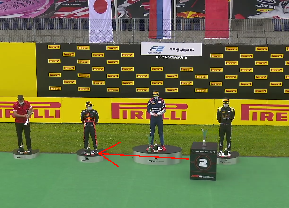 Watch Robots Bringing Trophies After F2 Race In Austria Today