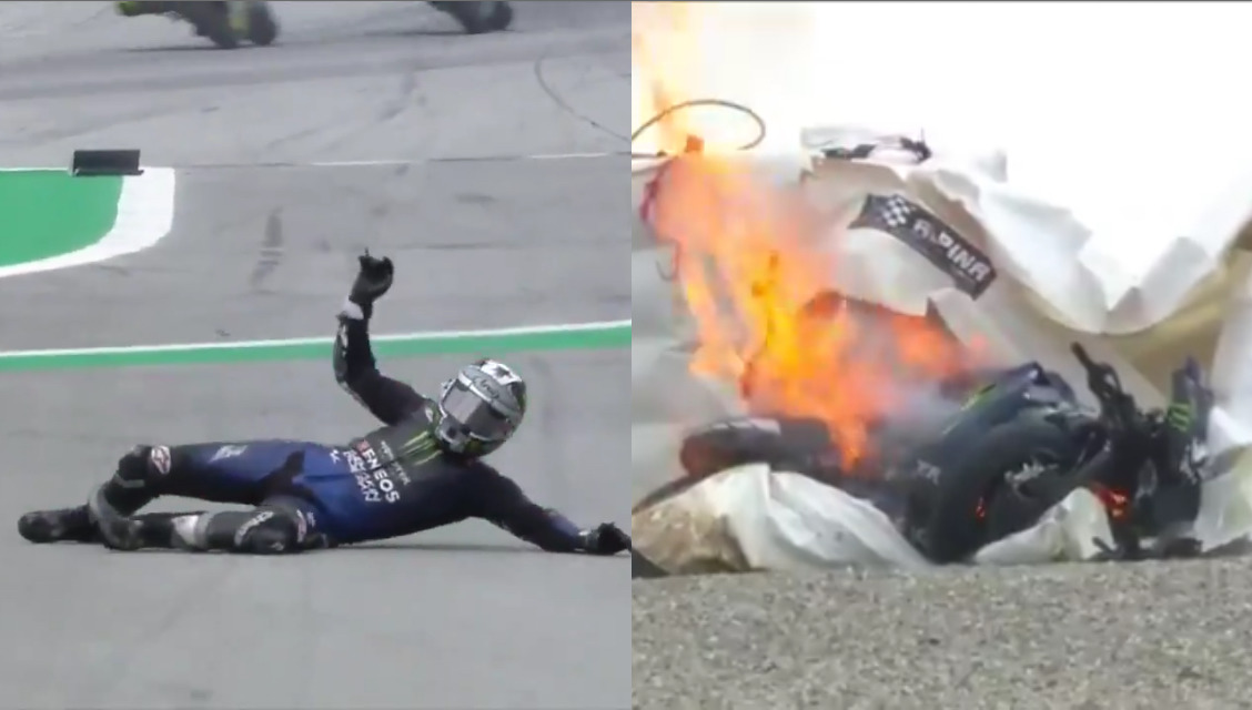 VIDEO: Scary Brake Failure at 220 Km/h In MotoGP Today