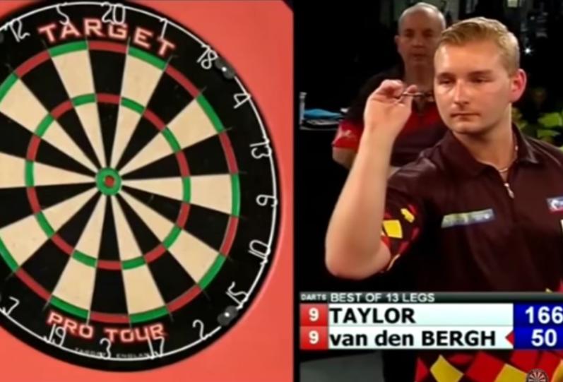 Dimitri van den Bergh Beats Phil Taylor With 10-Darter On Bulls-Eye