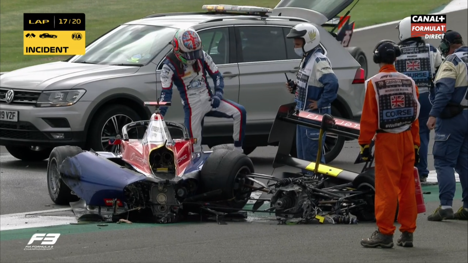 VIDEO: Formula 3 Car Broke In Two Pieces After This Crash