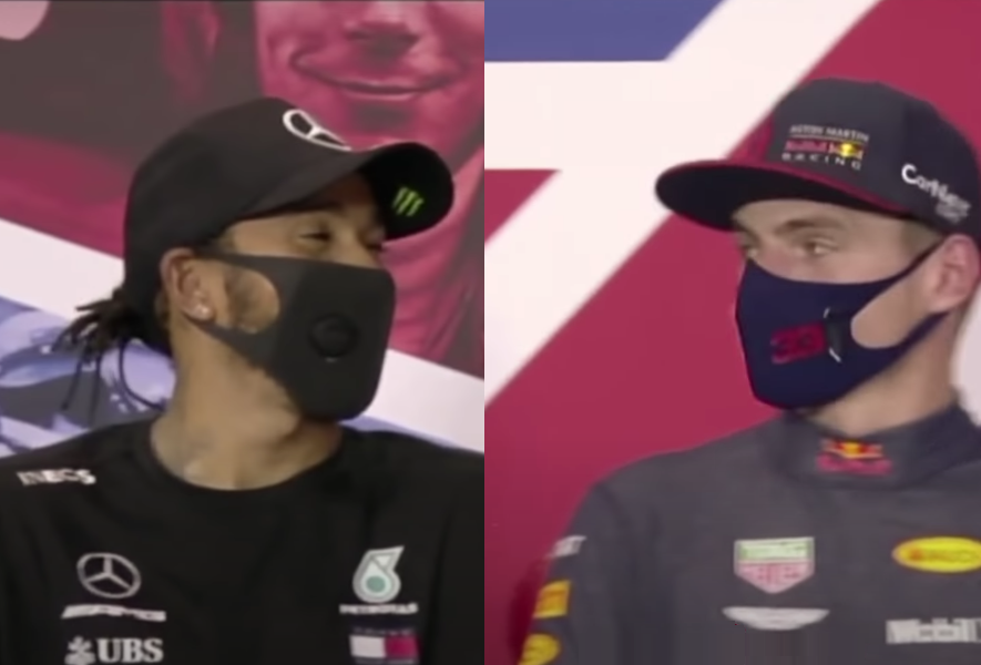 Funny Moment Between Max Verstappen & Lewis Hamilton In Press Conference