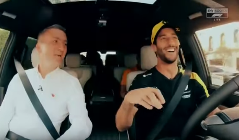 Daniel Ricciardo Listening To Lewis Hamilton & Christina Aguilera Song
