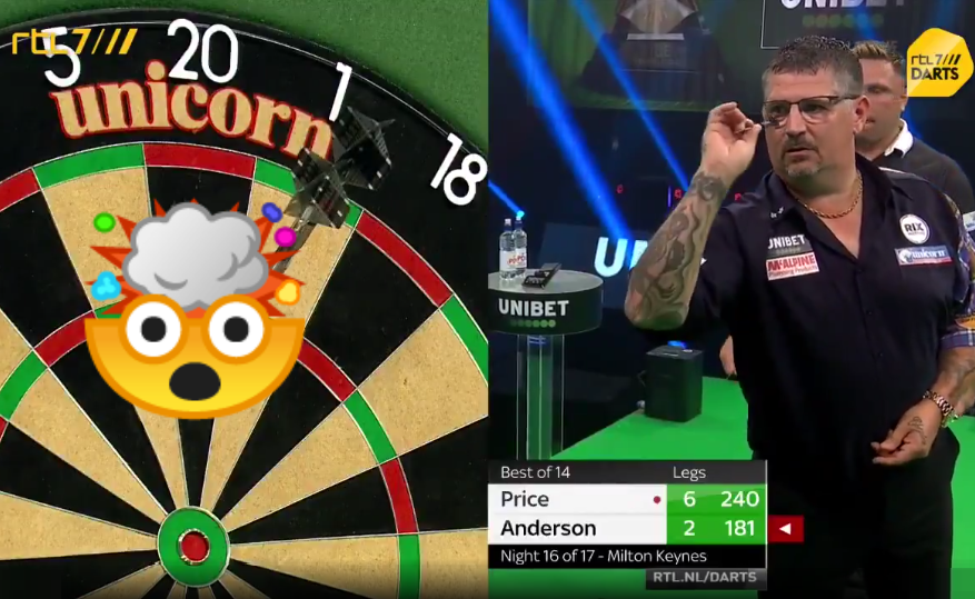 VIDEO: Bizarre Moment Gary Anderson In Match Against Gerwyn Price