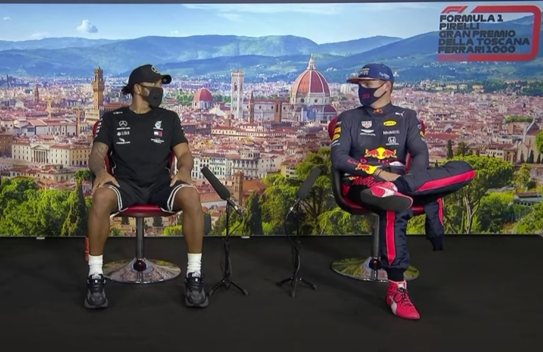 VIDEO: Lewis & Max Funny Moment During Today's Press Conference