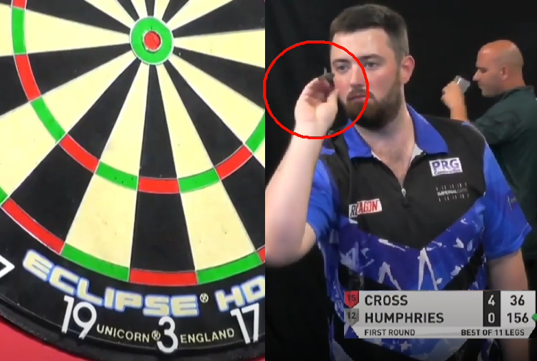 VIDEO: Illegal Backwards Throwing By Luke Humphries In Germany