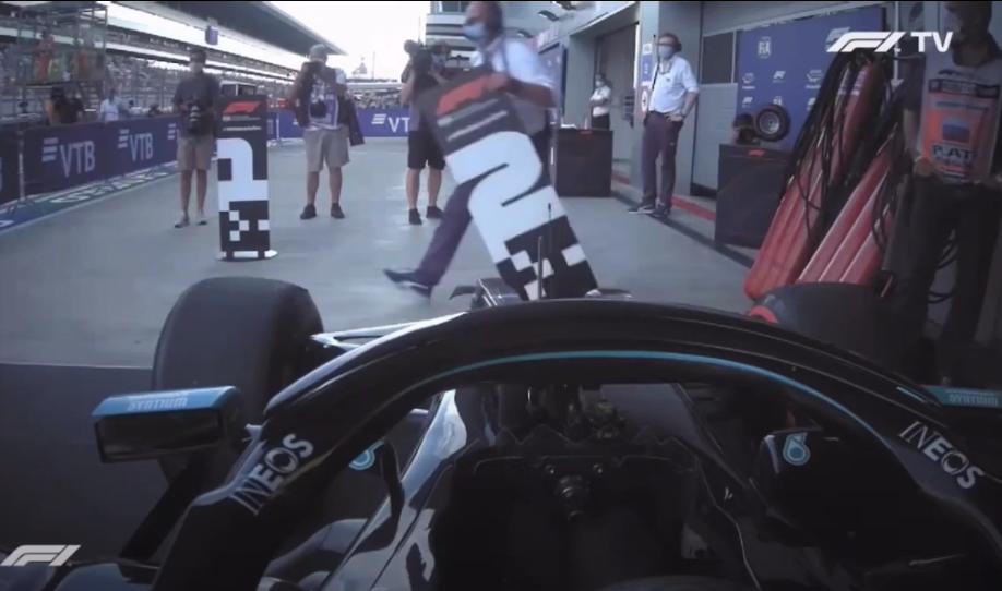VIDEO: Bottas Got Told Verstappen Is P2 When He Parked In His Spot