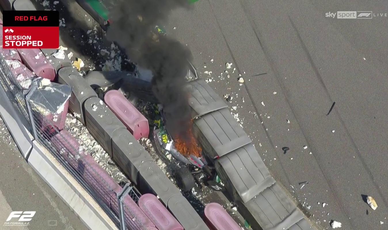 VIDEO: Horror Crash In Formula 2 At Sochi Autodrom Russia