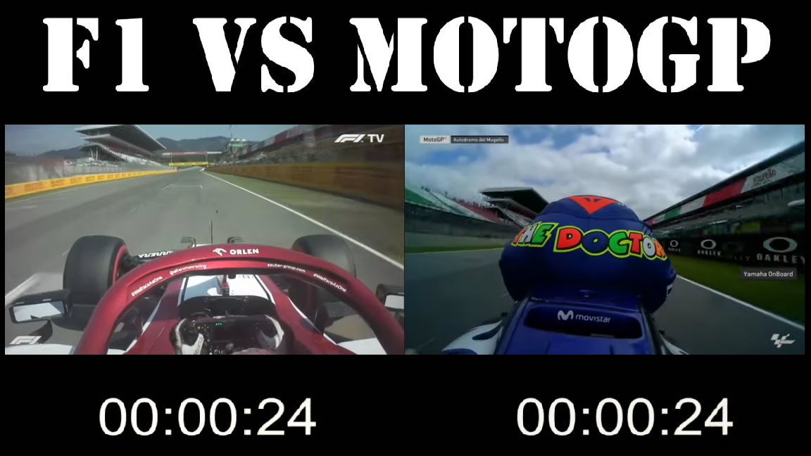 The Speed Difference Between F1 And MotoGP at Mugello