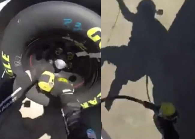 VIDEO: Nascar Mechanic Gets Hit By Another Truck, Still Continues His Job