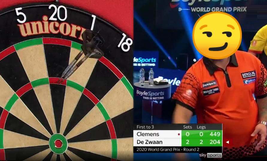 VIDEO: Jeffrey de Zwaan Predicts 180's During Match Winning 10 Darts Leg